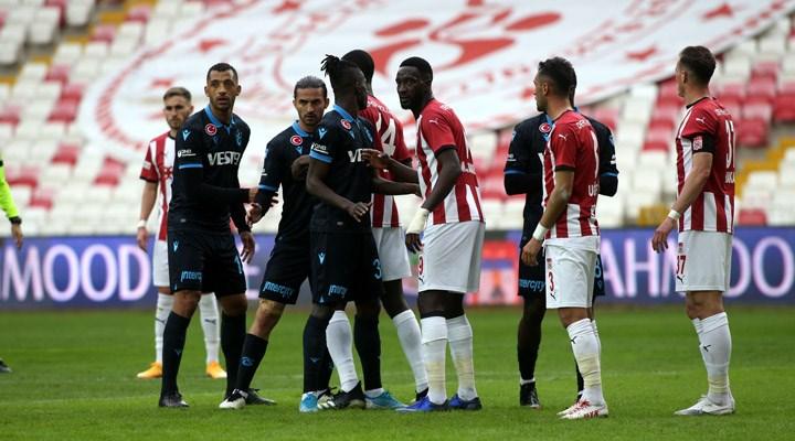 Sivasspor-Trabzonsporkarşılaşmasından gol sesi çıkmadı