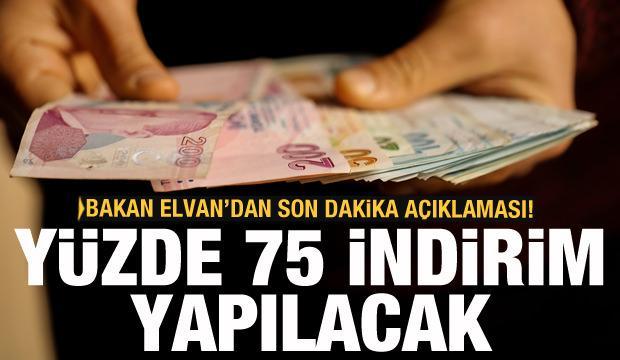 Bakan Elvan'dan vergi indirimi açıklaması! 75 olarak uygulanacak